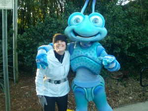 Flik and I kicking it around mile 14 (they tend to blur)!
