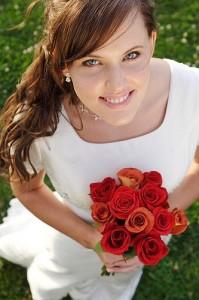 Bridewithredflowers