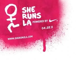 She Runs LA, Nike, Nike+, Nike plus, LA, running event, 10K, 6.2 mile run, girls running, love of running