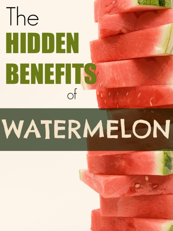 A stack of watermelon slices isolated on white