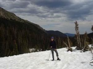 snow-hiking
