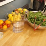 spinach and blackberry salad, fit chef katy salad, food demonstration, easy salad, pre-washed salad mixes