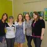 Theresa (owner of the studio), Rebecca,Jessica, me and McKenzie