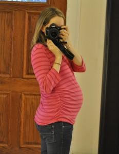 Erin pregnant third trimester