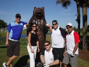 Jared and Oakley crew at PGA National