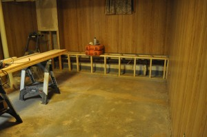 basement workout area