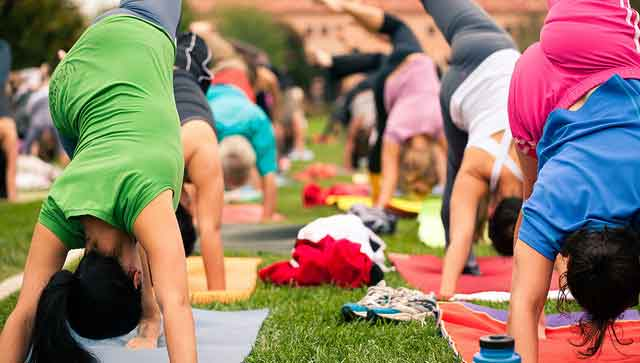 The calories burned in yoga differ greatly depending on the style! Credit: lululemon athletica