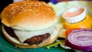 pink slime burger