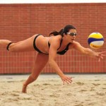 All that training sure helps Misty May-Treanor on the court!