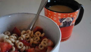 cheerios strawberries