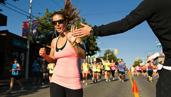 Keep your momentum going by signing up for another marathon! Credit:  lululemon athletica