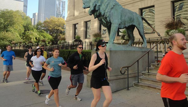 Is a running group for you? Credit: City Running Tours Chicago