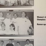 "Why yes, that *is* Kristen in the 1999 MSU Intramural Sports handbook. And yes, the team name *was* ""Lady Ballas."" Oh, '90s."