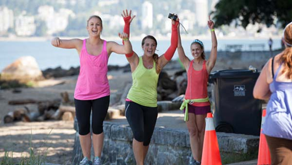 Are you as happy and thrilled as these ladies are? You can be when living the FBG Life! Credit: lululemon athletica