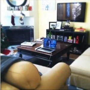 living room workspace