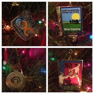 Race Medals as Ornaments = Best Tree Ever