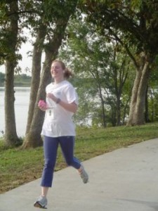 Running my first 10K back in 2006ish.