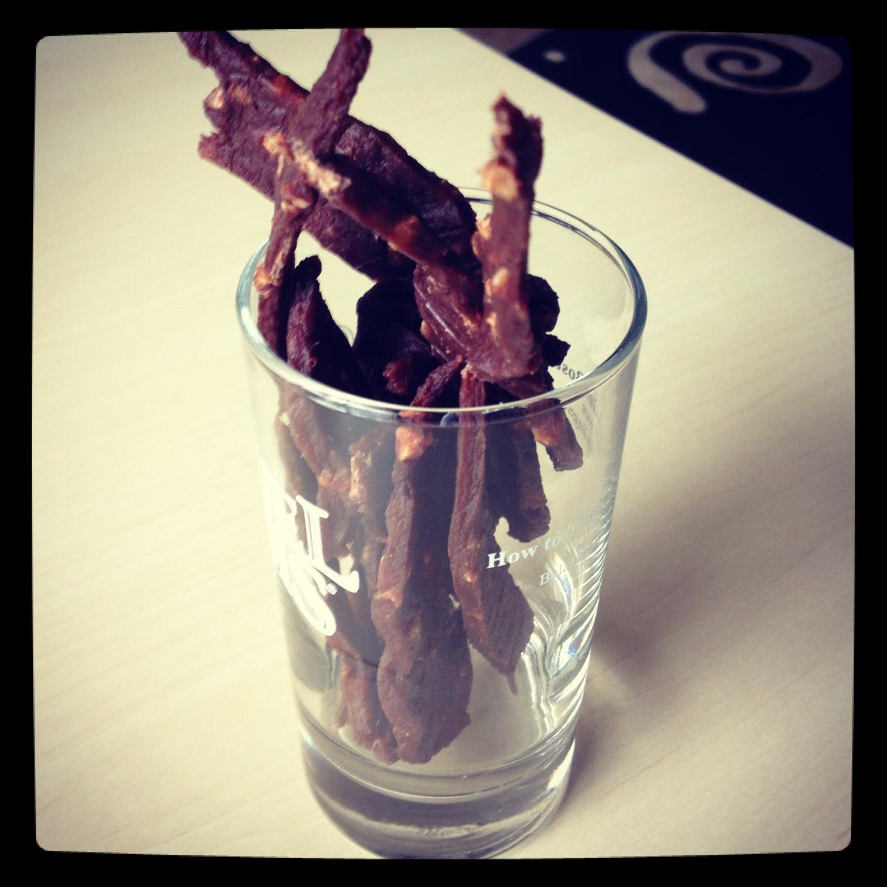 Homemade Peanut Chocolate Jerky