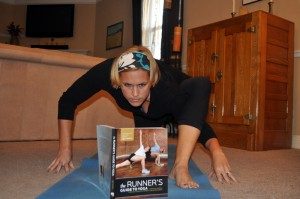 See? A yoga book is totally handy. Credit: Jared Seymour