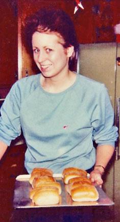 Karen and her buns - circa 1978