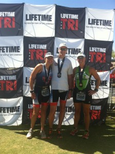 Susan, IHB and me at the finish. It was freaking awesome.