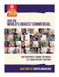 Be in the World's Biggest Commercial and Help End Polio Now