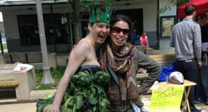 Yes, this is a kale dress. Credit: Peace Love Nicole (Nicole is the one not wearing kale.)