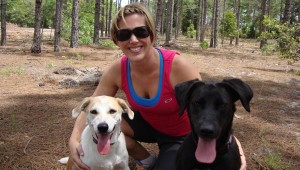 FBG Kristen with Rudi and Hollie, who are always ready to run!