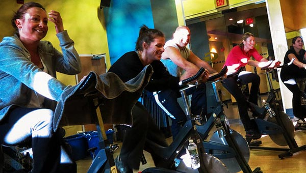 Nervous to go to your first Spin class? Don't be---it's fun. Promise! Credit: bobroche