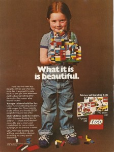 Are there ads like this anywhere these days? Credit: LEGO