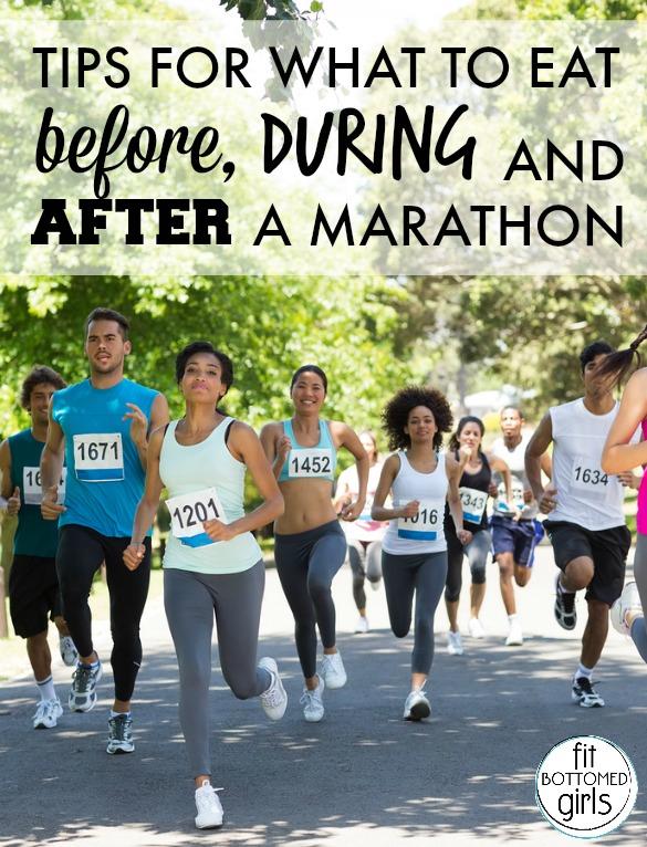 Group of marathon athletes running on street