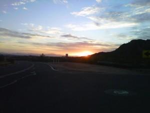 Sun Rising over South Mountain