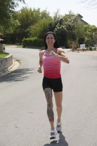 Carla (AKA MizFit) getting her reluctantly happy cardio on!