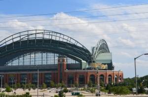 West view of Miller Park in Milwaukee
