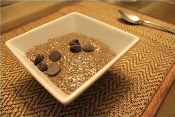 chia seed pudding, fiber