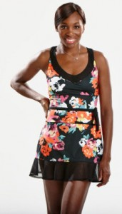 The one and only Venus Williams, rocking the dress she'll play in at the 2013 U.S. Open.