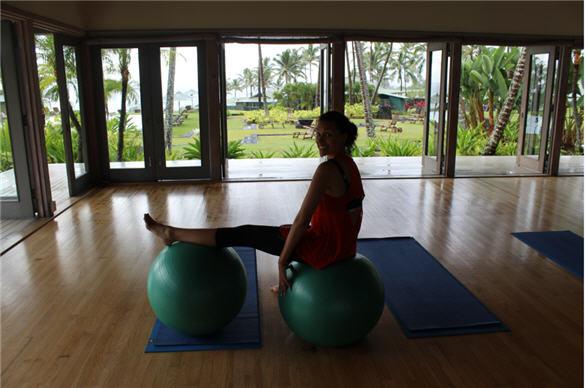 core conditioning, travaasa resort, hana, vacation workout