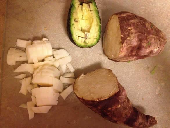 yucca jicama avocado