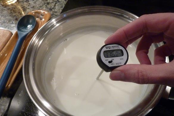 milk temperature