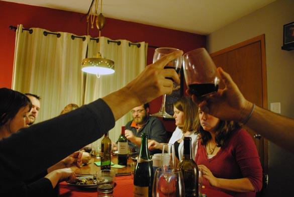 friend-feast-cheers