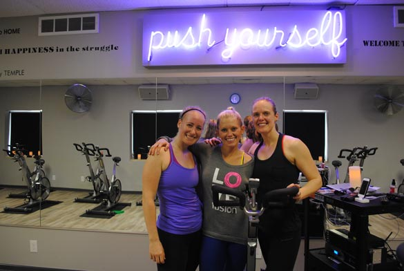 Jenny, Darby and me after our fabulous workout.