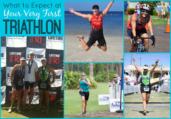 triathlon collage