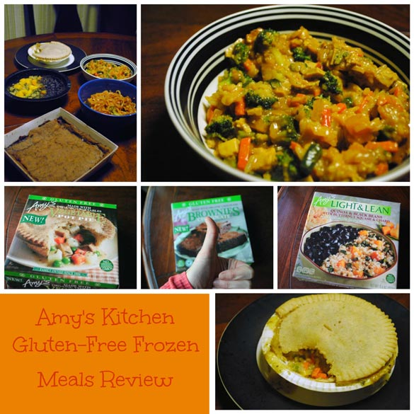 Amy\'s Kitchen Review: Gluten-Free Frozen Meals and Brownies