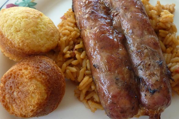 sausage and cornbread