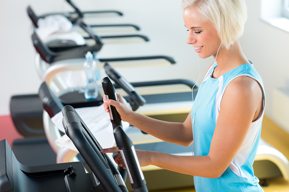 woman on elliptical