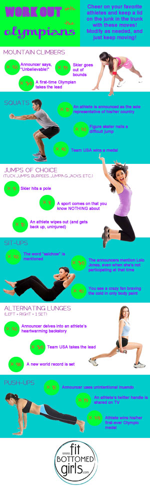 olympics workout infographic