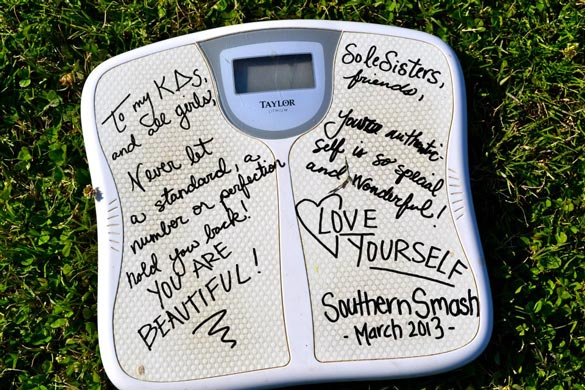 Smash that scale with love. Credit: NEDA