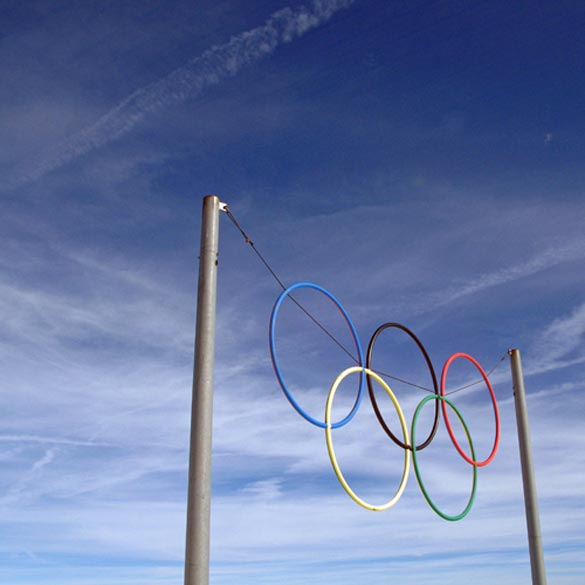 The Olympics make me want to jump higher and run faster. Credit: kevin dooley, Flickr