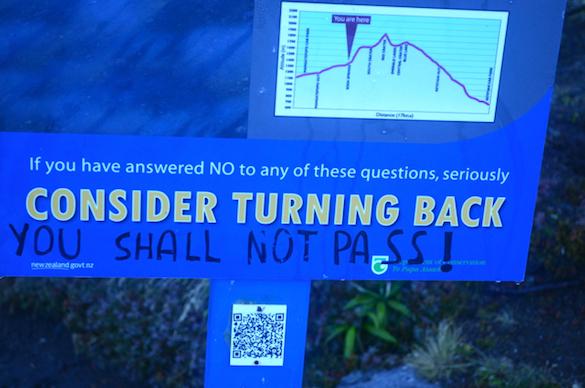 Consider turning back