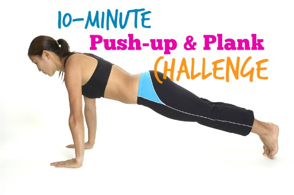 Take the 10-Minute Push-Up and Plank Challenge
